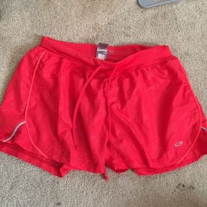 bright red- pink athletic shorts